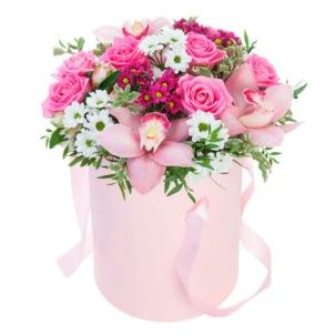 """Цветы в коробке """"Романтика"""""""