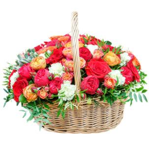 """Цветы в корзинке """"Вернисаж"""""""